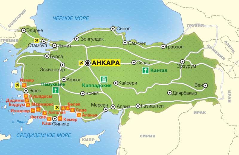 Летние курорты Турции