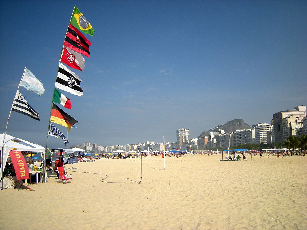 Копакабана, пляж утром