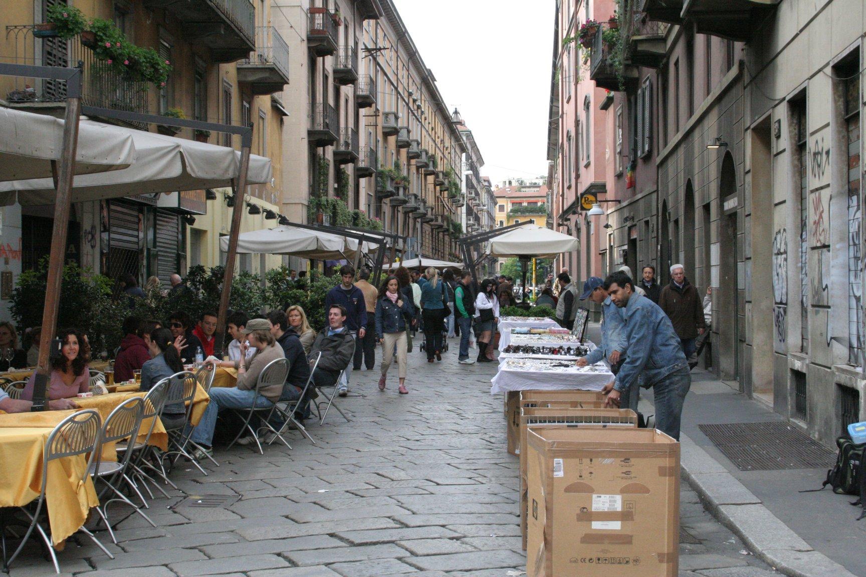 Улица Брера в Милане
