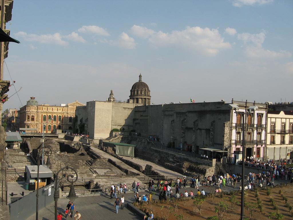 Вид на Темпло Майор, Мехико