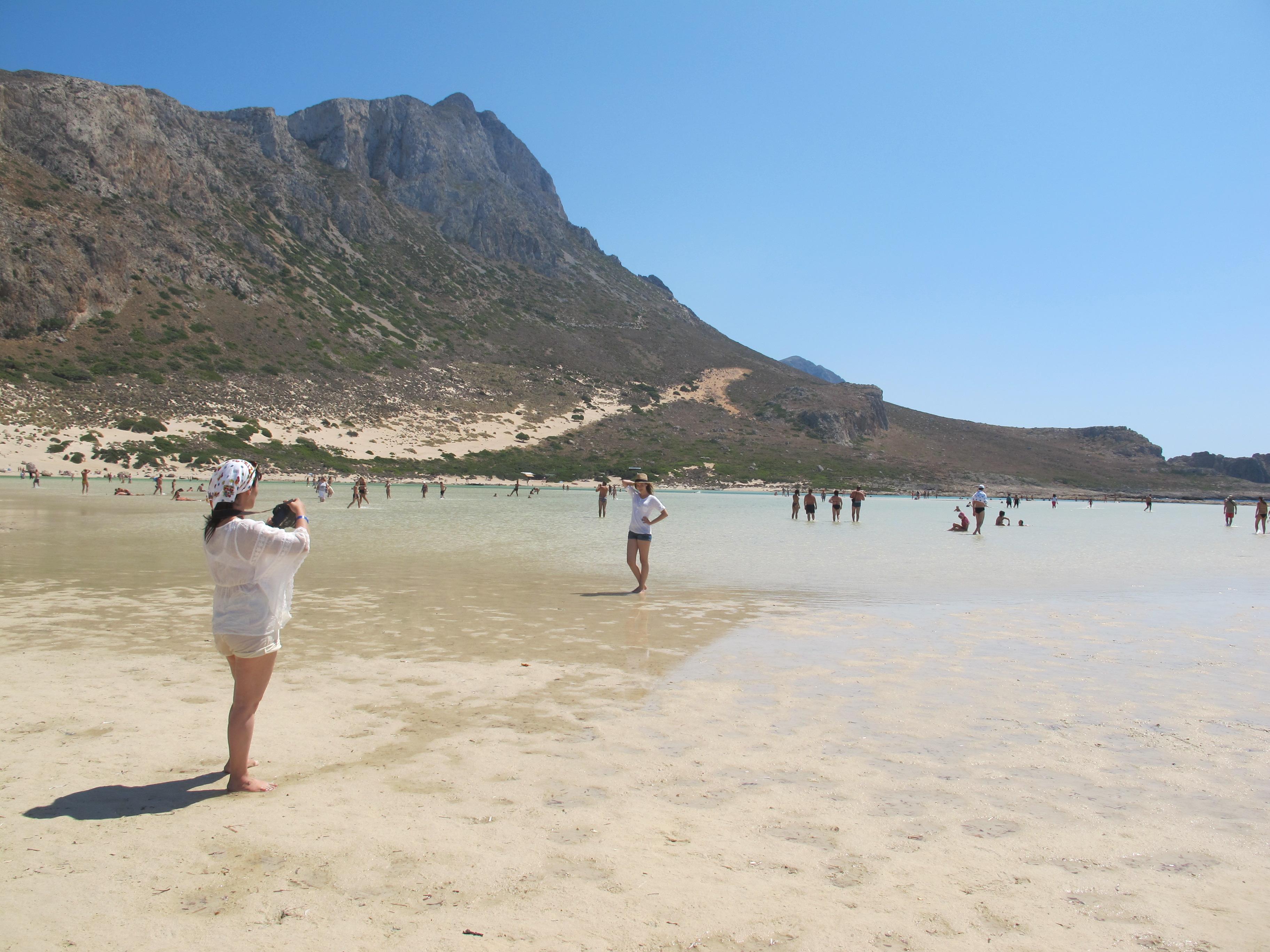 Небольшая лагуна в Балосе, Крит, Греция