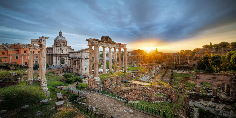 Панорама Римского форума, Рим