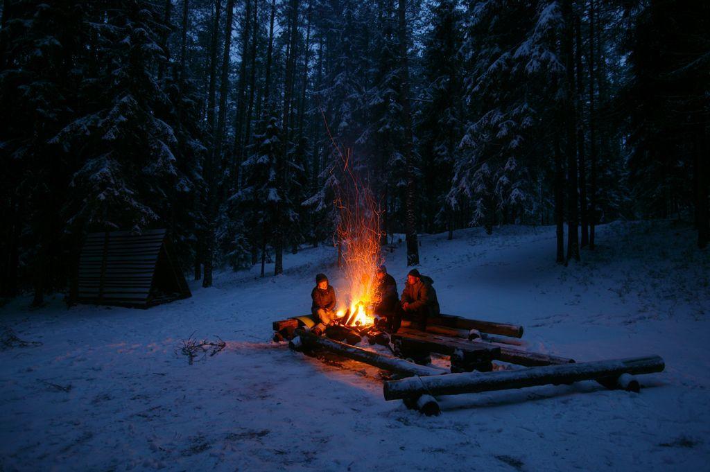 покажите пожалуйста картинки отдыхающих зимой у костра популярной