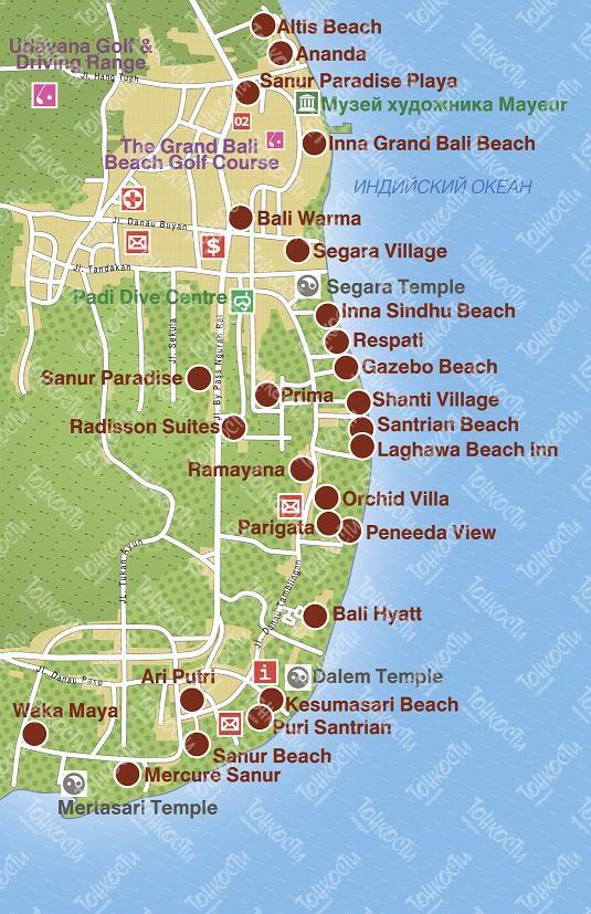 Карта-схема Санура
