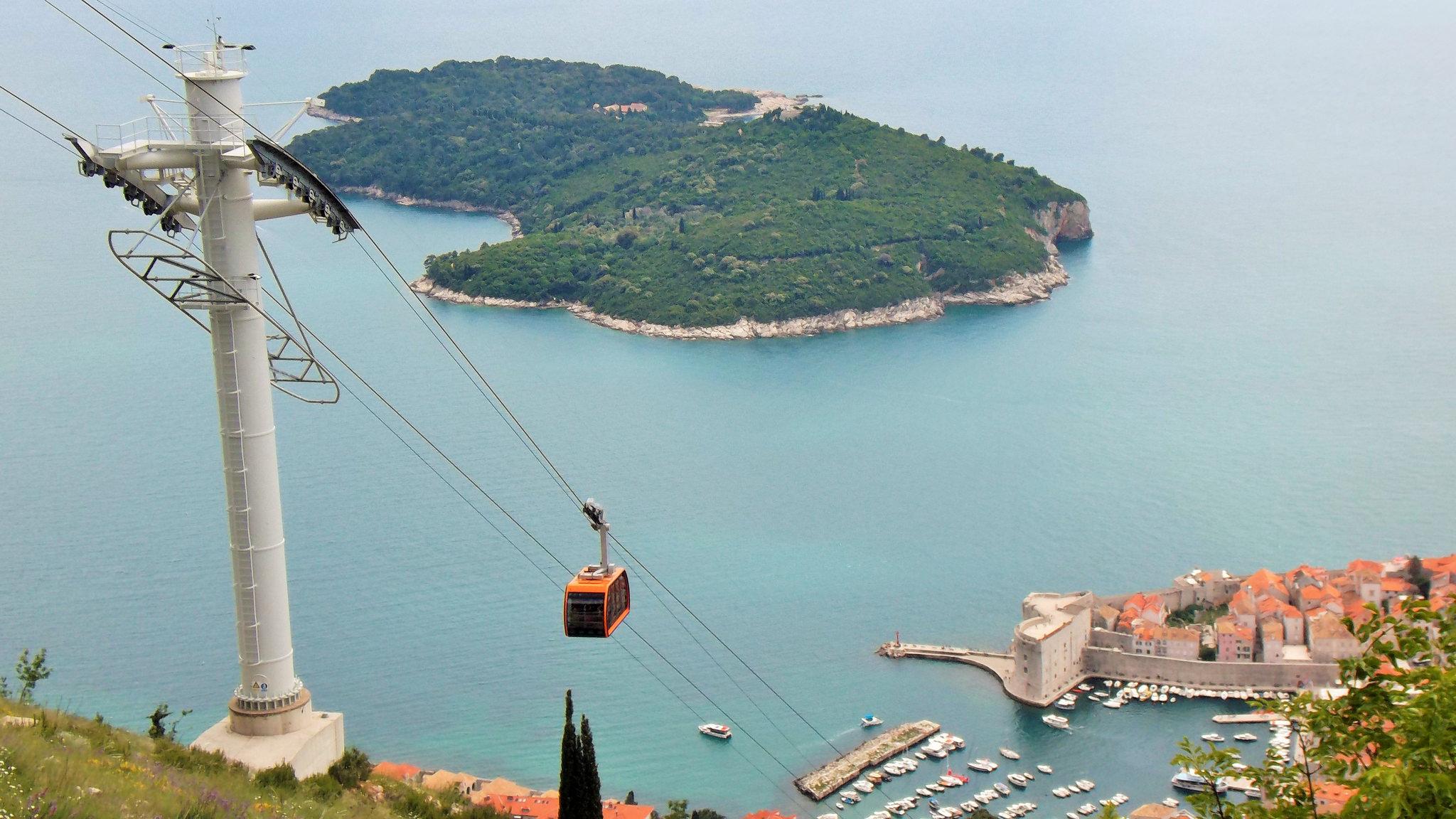Вид на остров Локрум, Хорватия