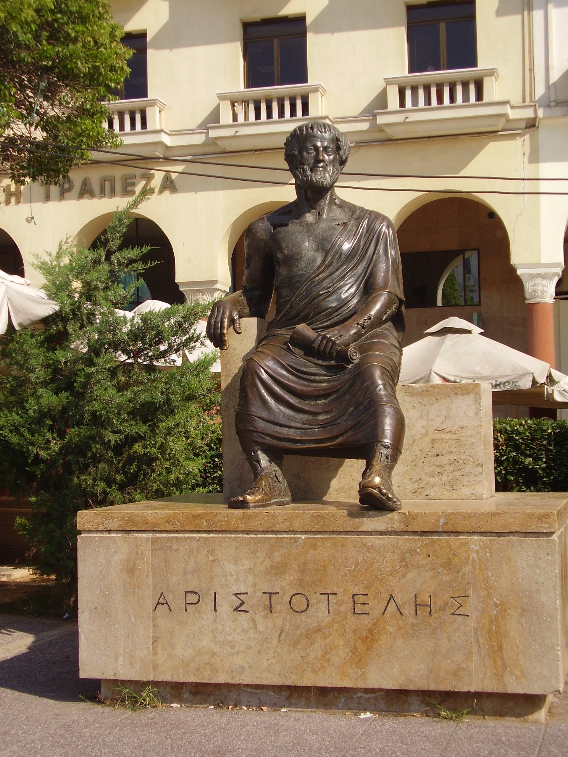 Аристотель, памятник на одноименной площади, Салоники