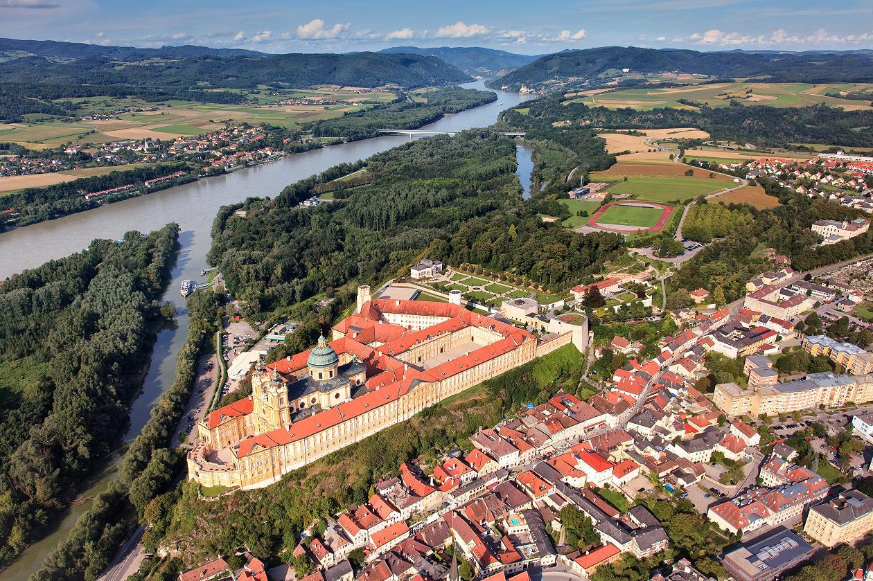 Виды монастыря Мелька, Нижняя Австрия