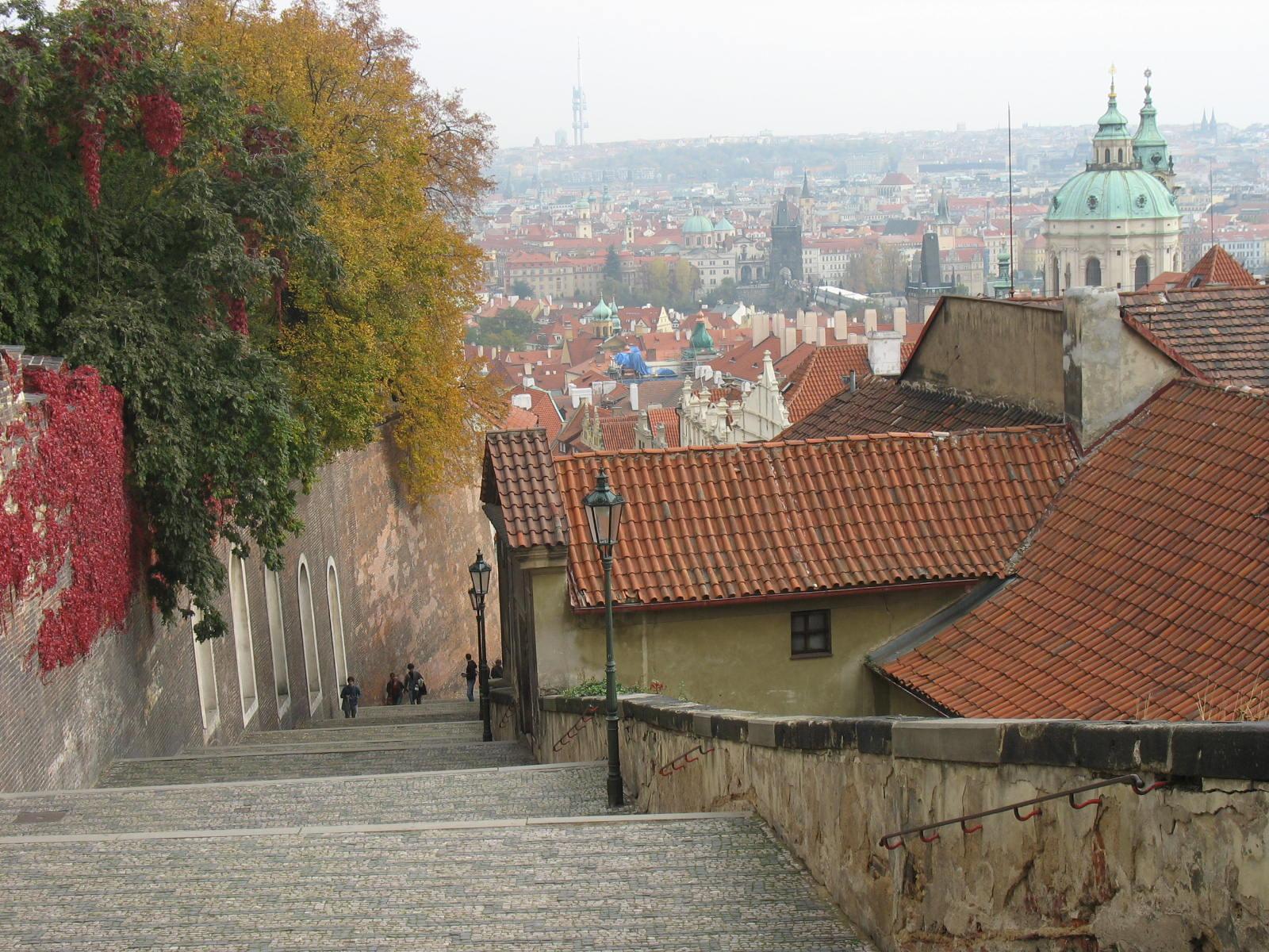 Градчаны, вид на Прагу
