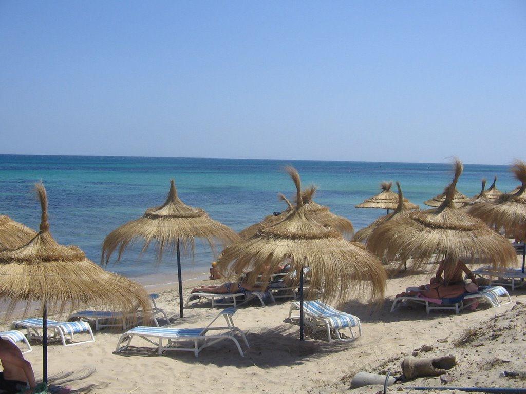 На одном из пляжей Хаммамета