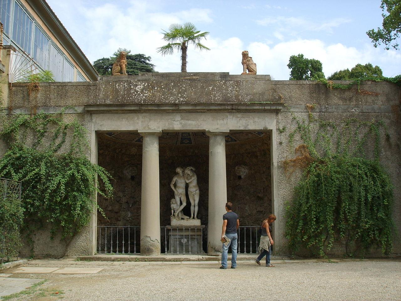 Сады Боболи, грот Адама и Евы