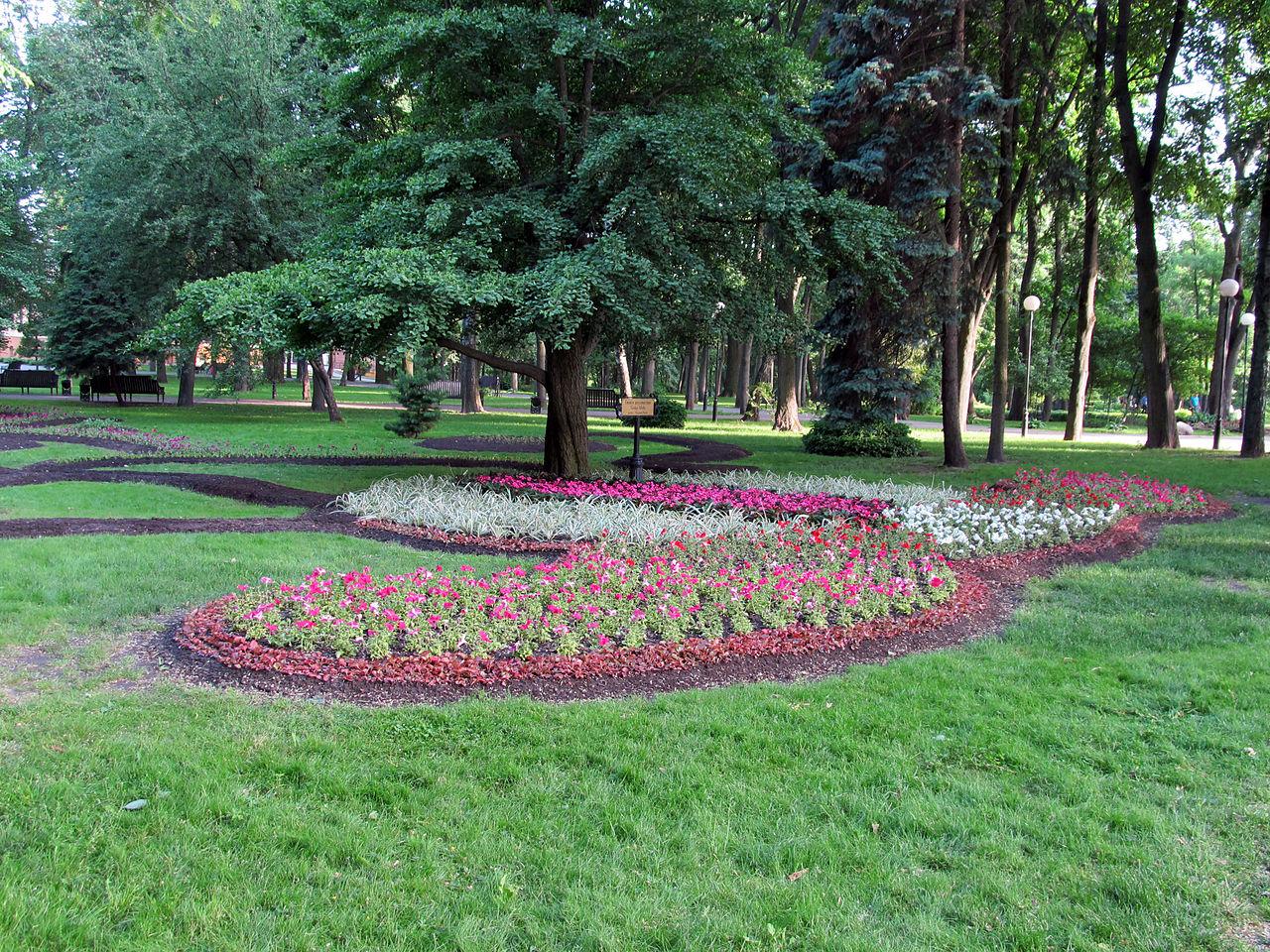 Гомельский парк, цветочные клумбы