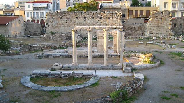 Площадь Агора в Афинах
