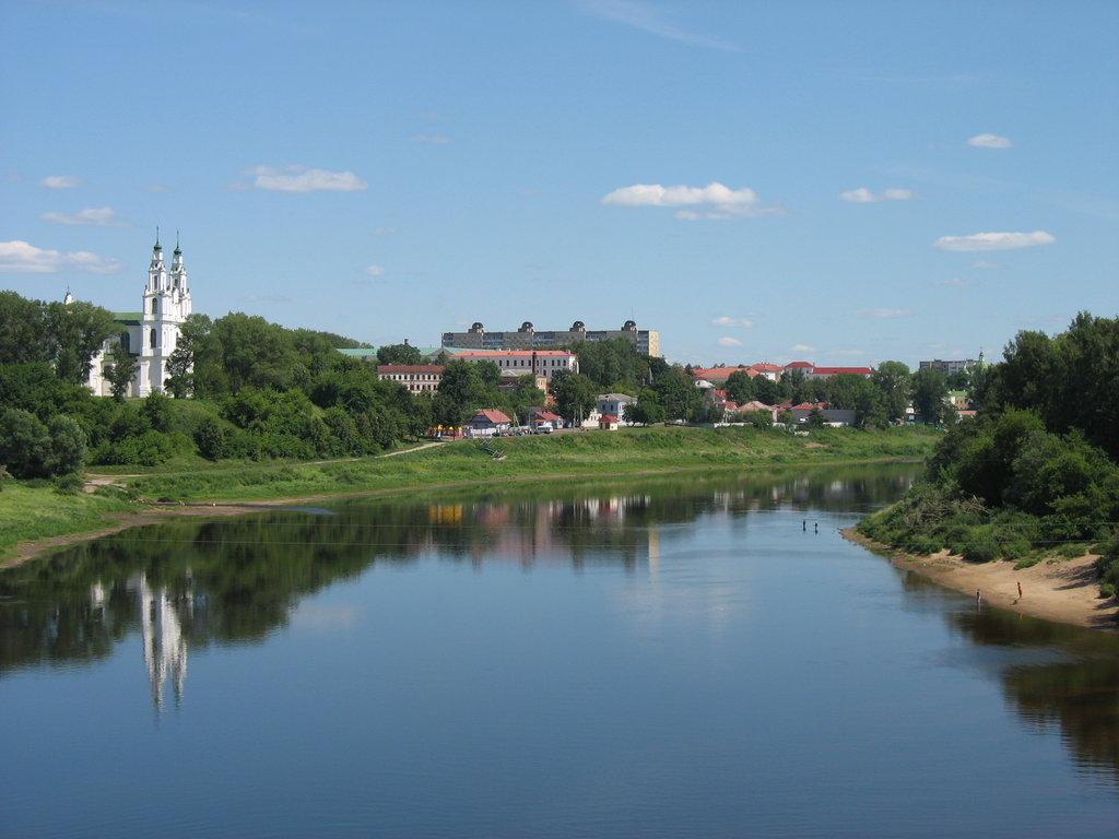 Вид на Софийский собор в Полоцке