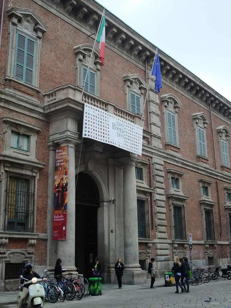 Галерея Брера в Милане, вход