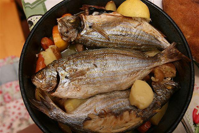 Печеная рыба, Черногория.jpg