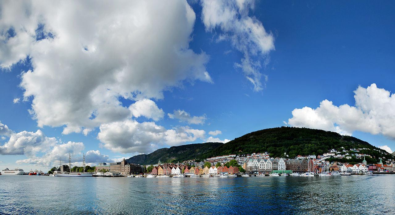 Панорама Бергена, Норвегия