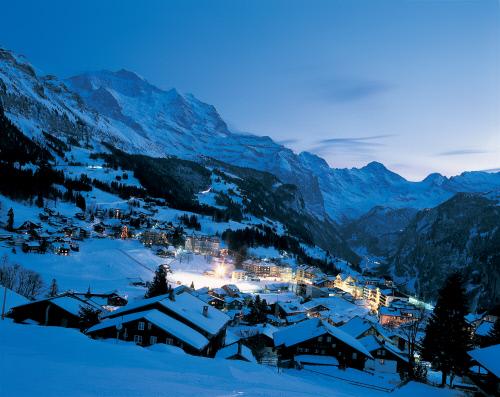 Зимняя ночь в Бернских Альпах, Венген.jpeg