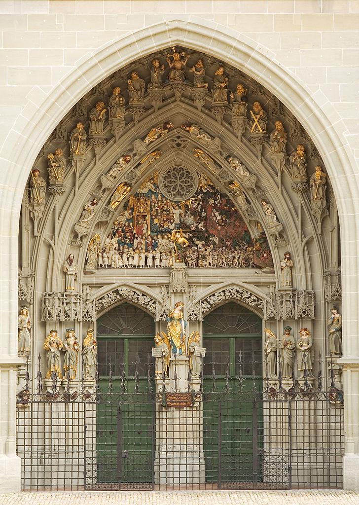 Бернский собор, барельефная композиция над входом