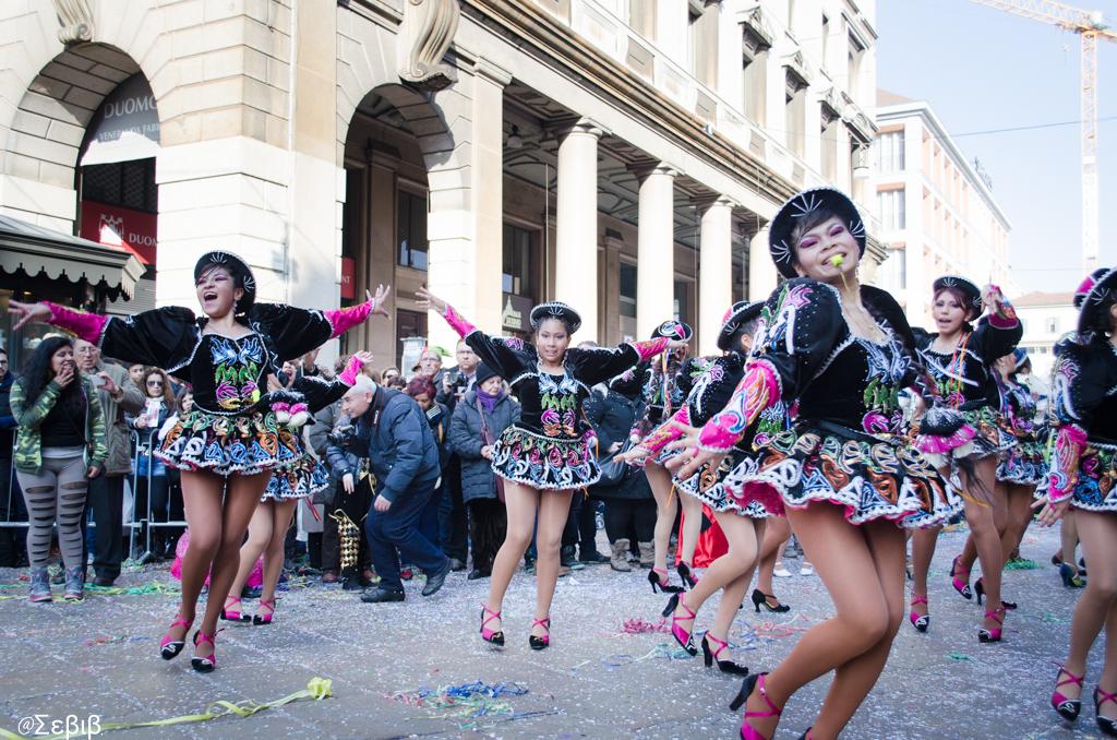 Веселье на карнавале в Милане