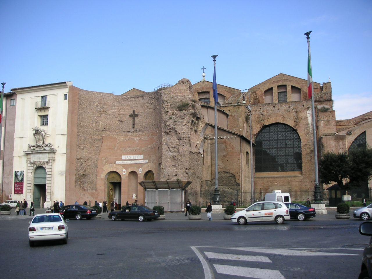 Национальный музей Рима, базилика Санта-Мария-дельи-Анджели-э-деи-Мартири