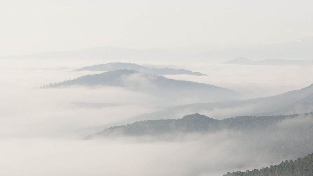 Семинский перевал в тумане, Алтай