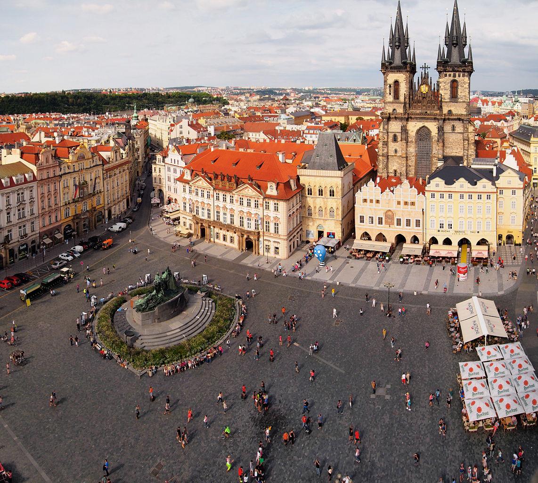 Староместская площадь, вид с воздуха