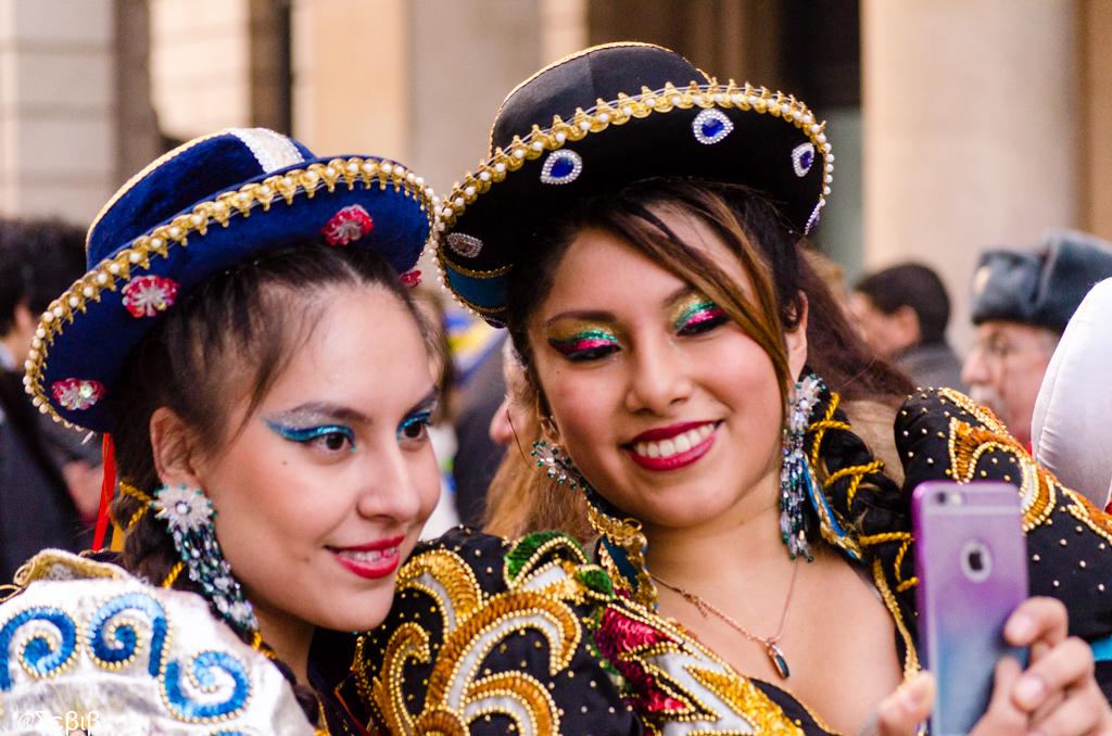 Участницы карнавала в Милане