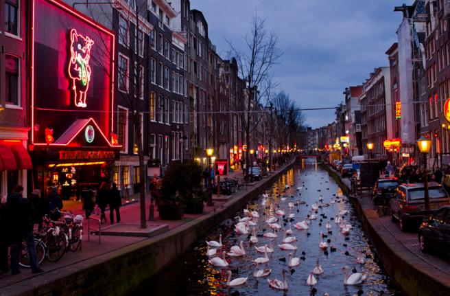 Улица Красных Фонарей, Амстердам