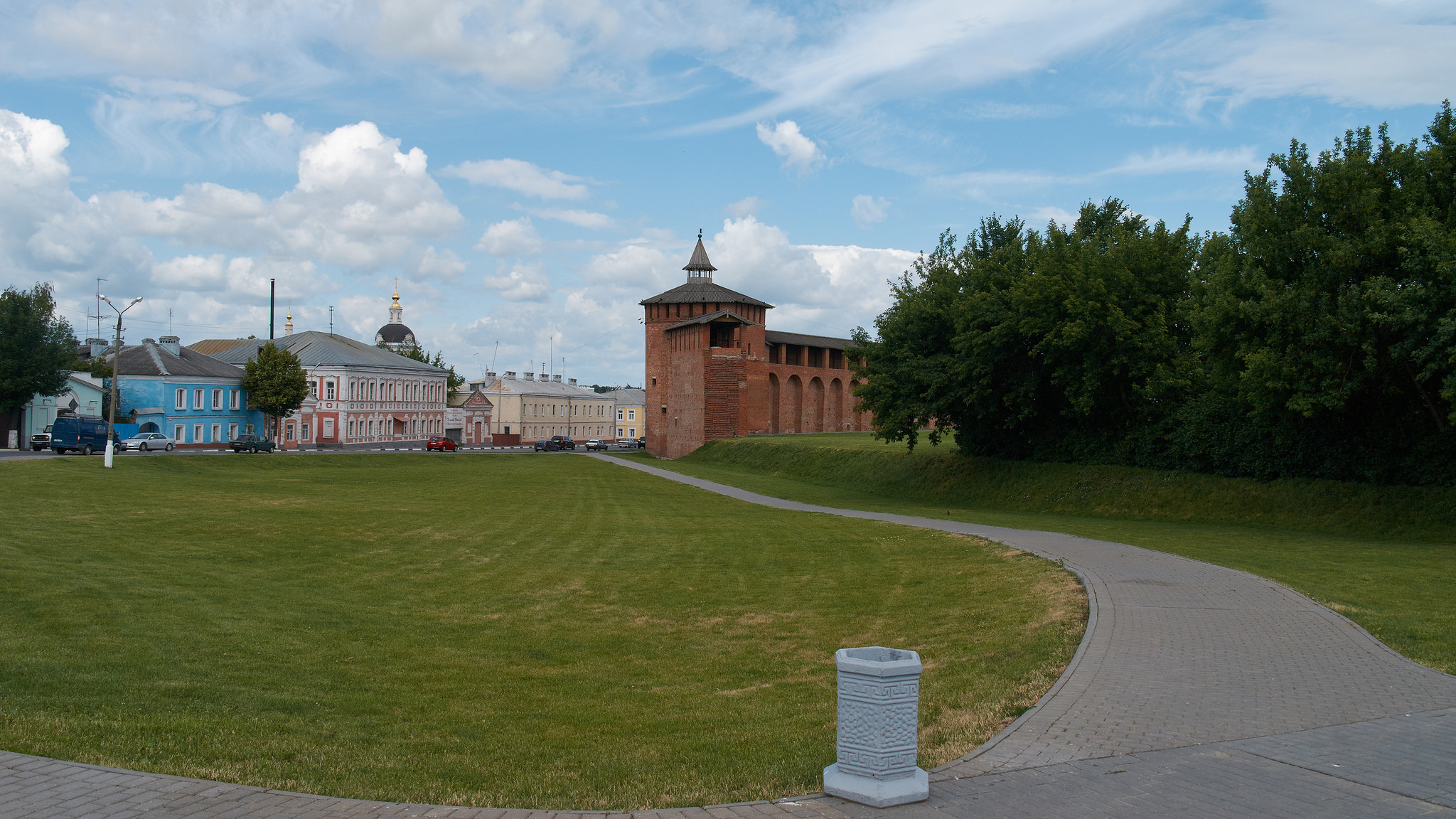 Территория перед Коломенским Кремлем, Коломна