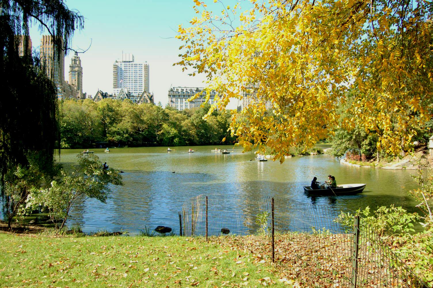 Центральный парк Нью-Йорка, осенний день