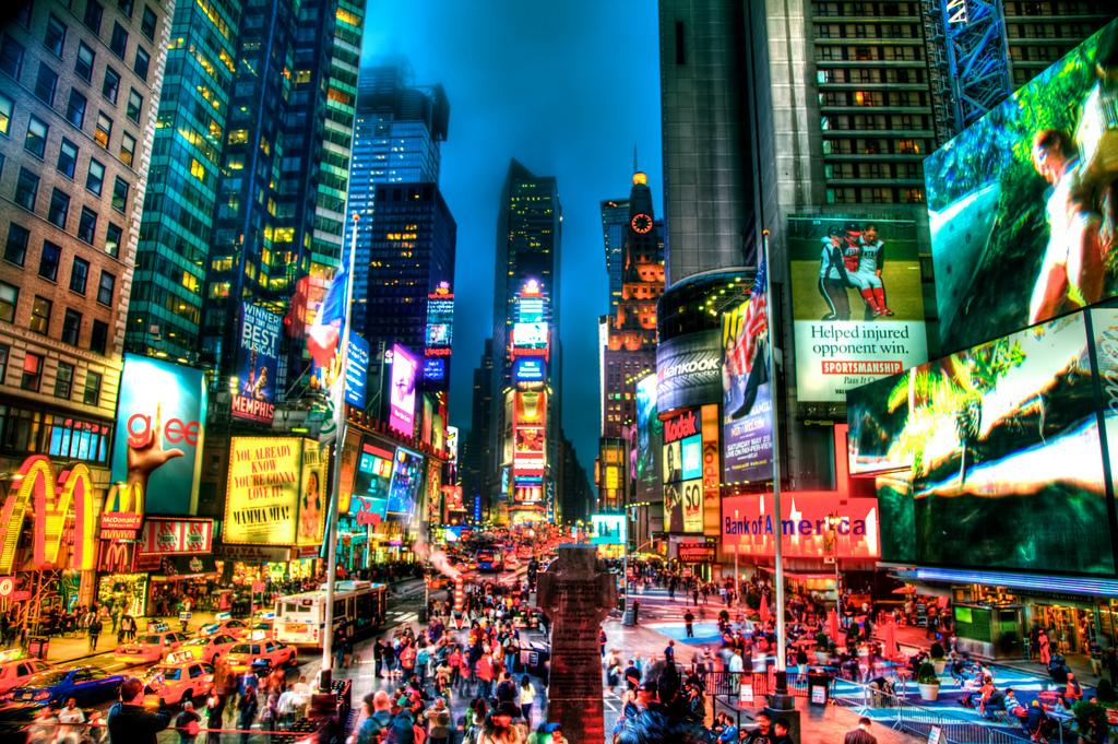 Вид на Таймс-Сквер, Нью-Йорк
