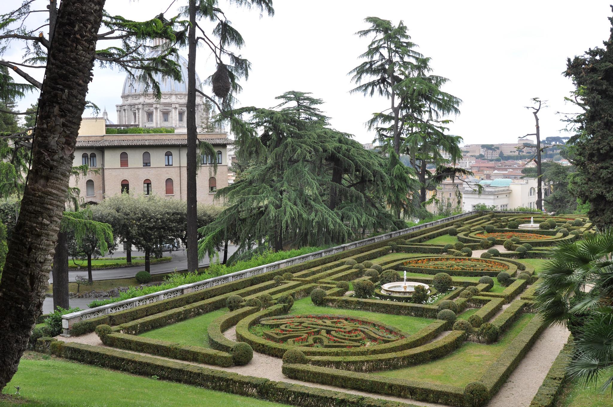 Парковое искусство Ватиканских садов