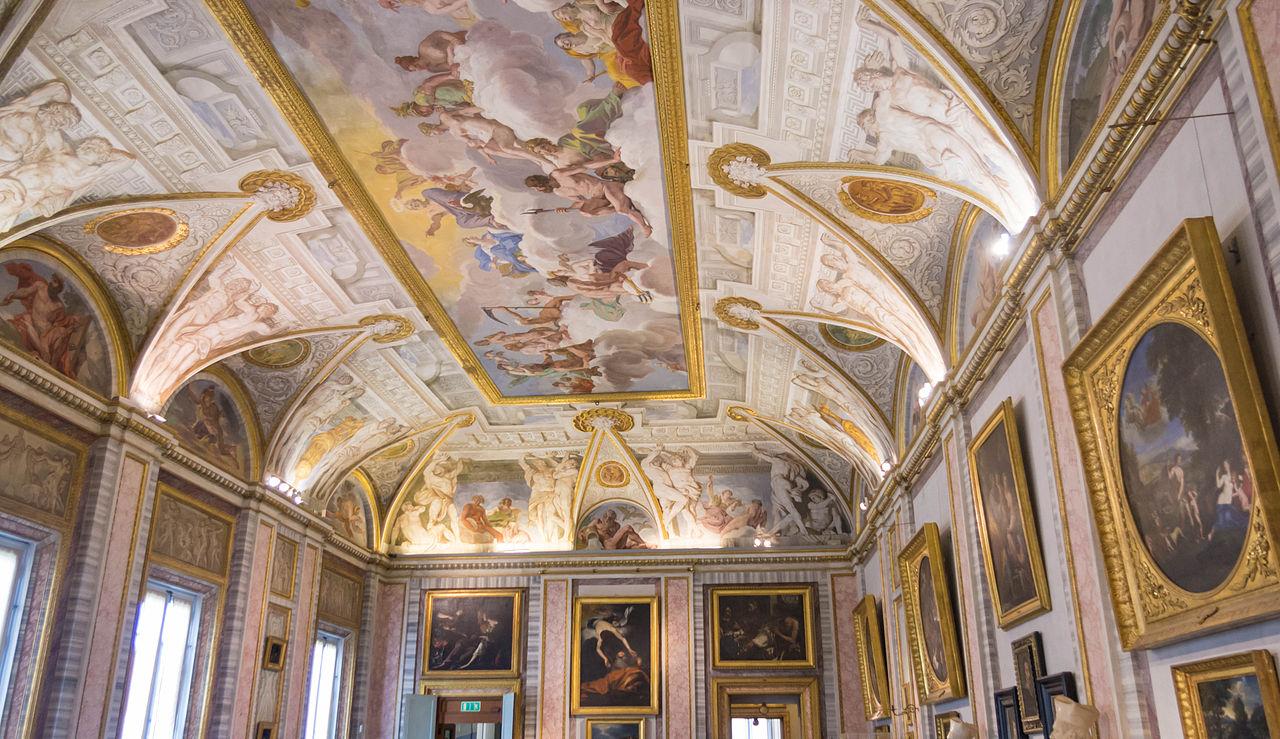 Галерея Боргезе, роспись на потолке