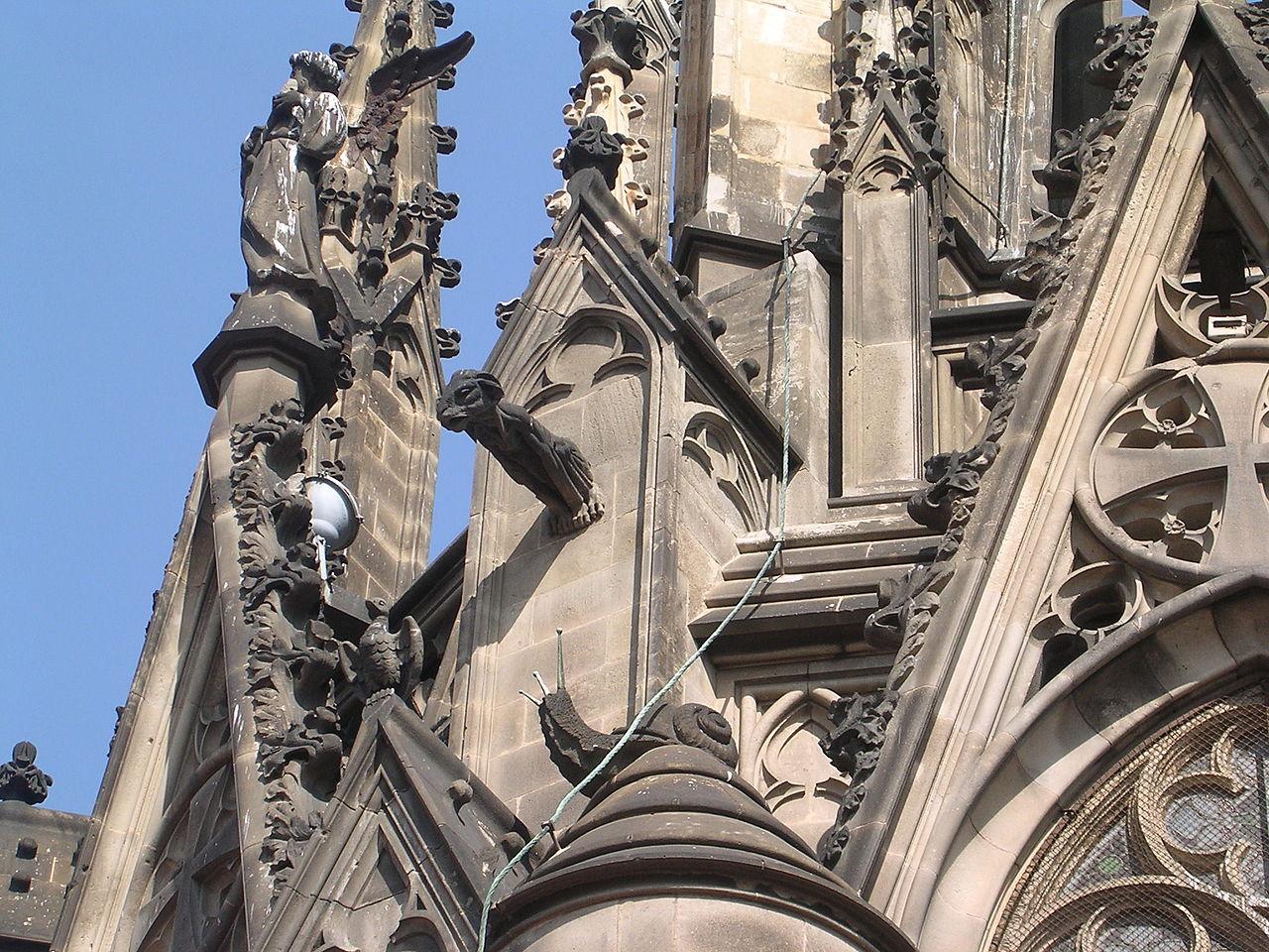 Кафедральный собор Барселоны, фрагмент крыши