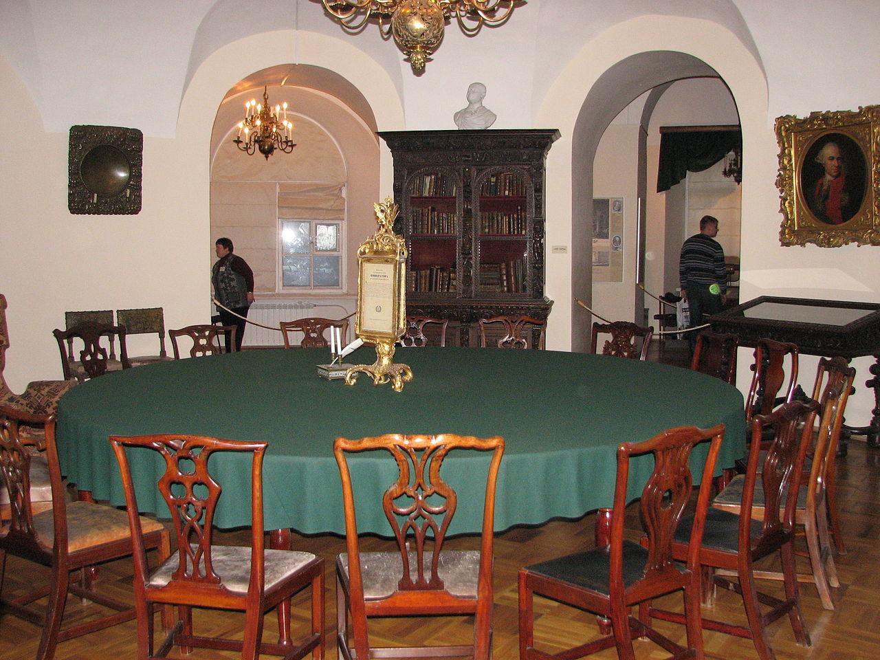 Кунсткамера, конференц-зал Санкт-Петербургской академии наук в XVIII веке