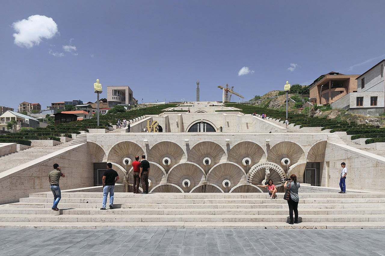 Каскад в Ереване, первый уровень