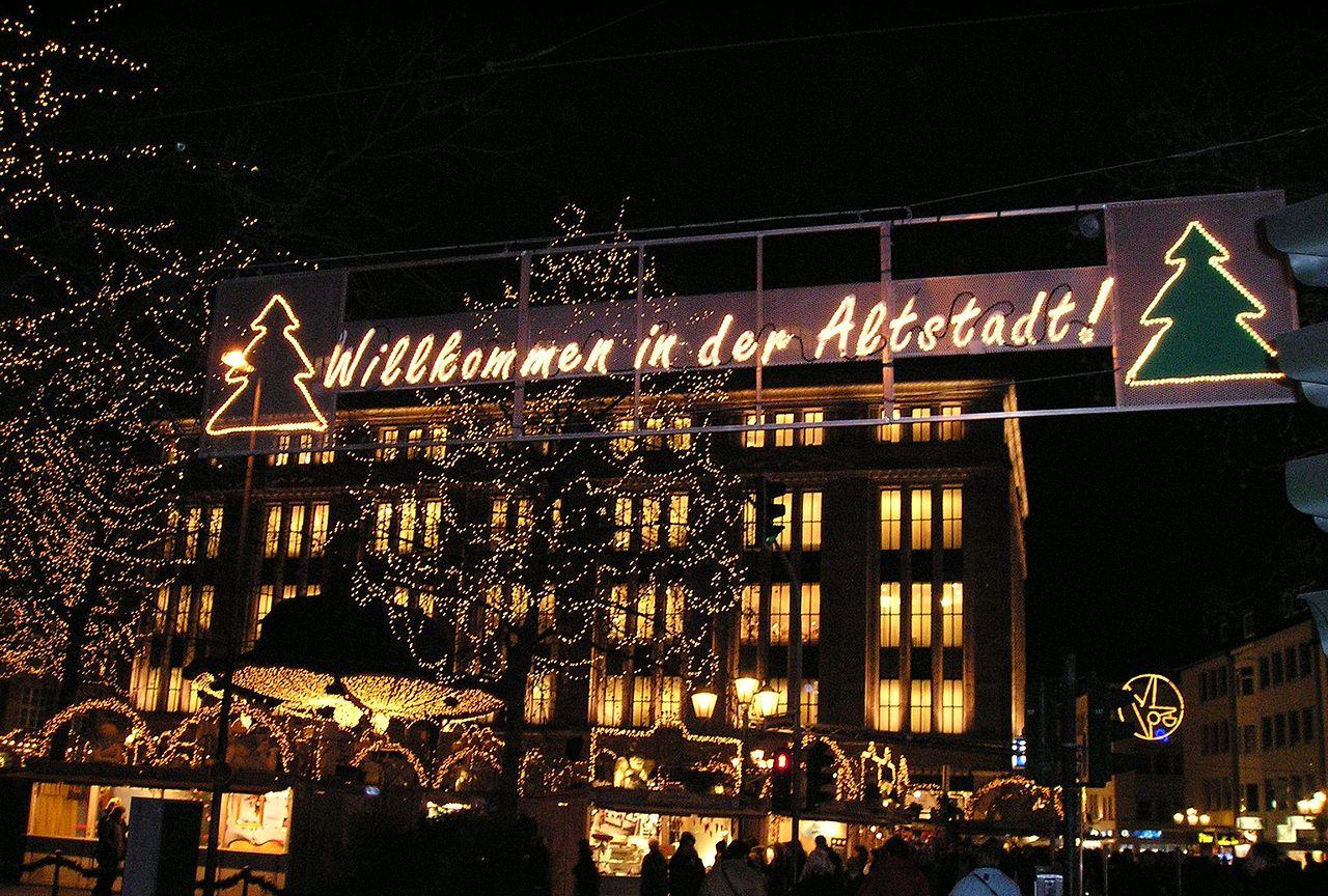 Альтштадт в Дюссельдорфе, рождественский рынок