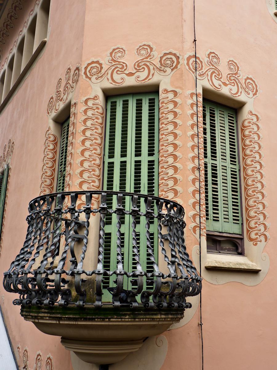 Дом-музей Гауди в Барселоне, балкон