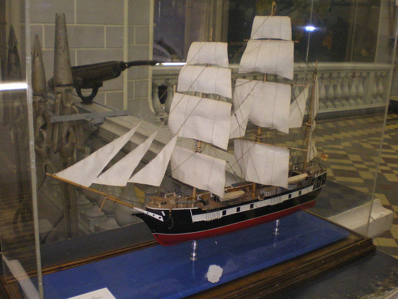 Зоологический музей РАН, модель корабля «Биггль»