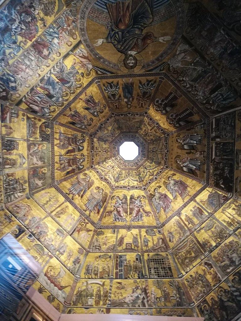 Расписной купол в соборе во Флоренции, Италия
