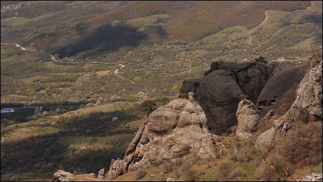 Долина Привидений Вид сверху Крым