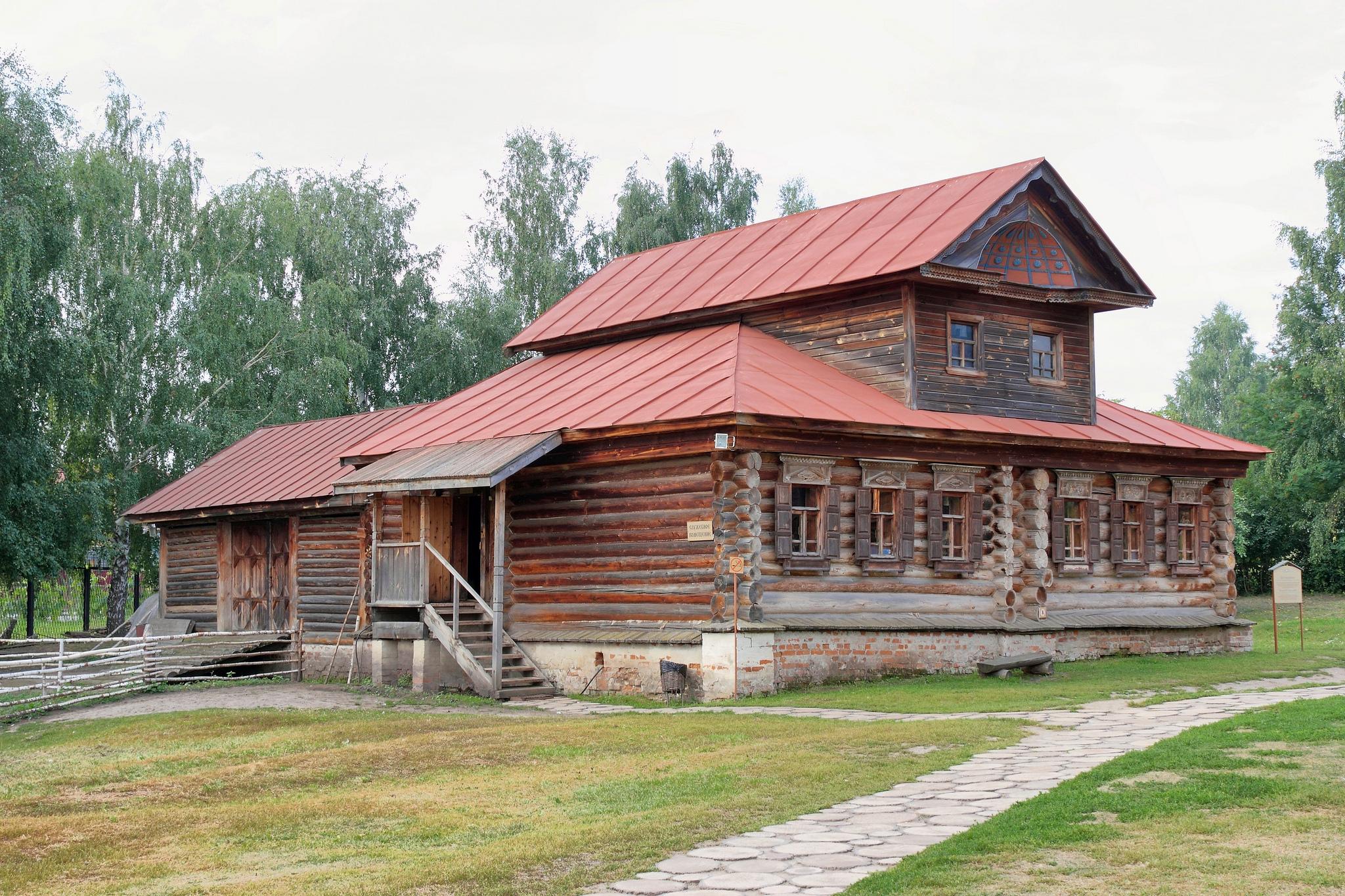 Музей деревянного зодчества в Суздале, дом с мезонином