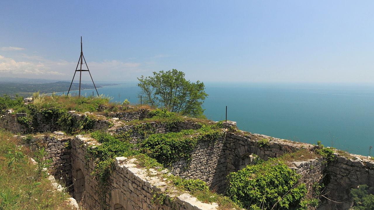 Анакопийская крепость, вид на море