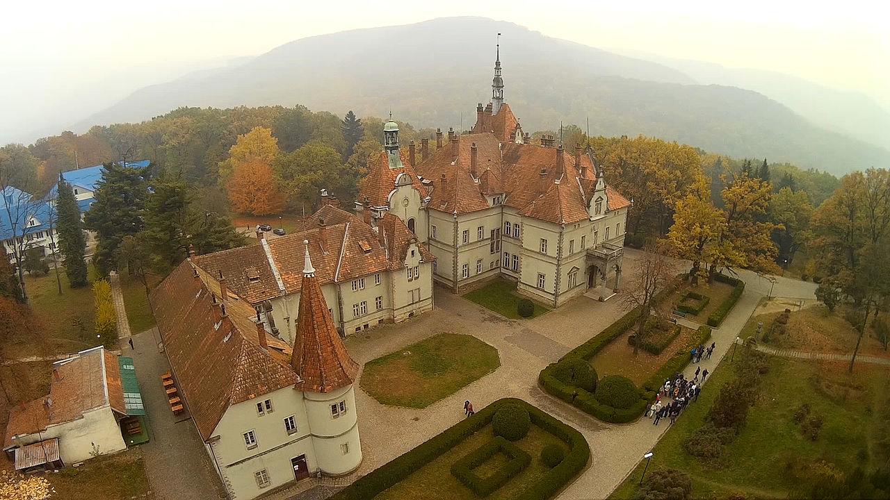Дворец Шёнборнов с высоты птичьего полета
