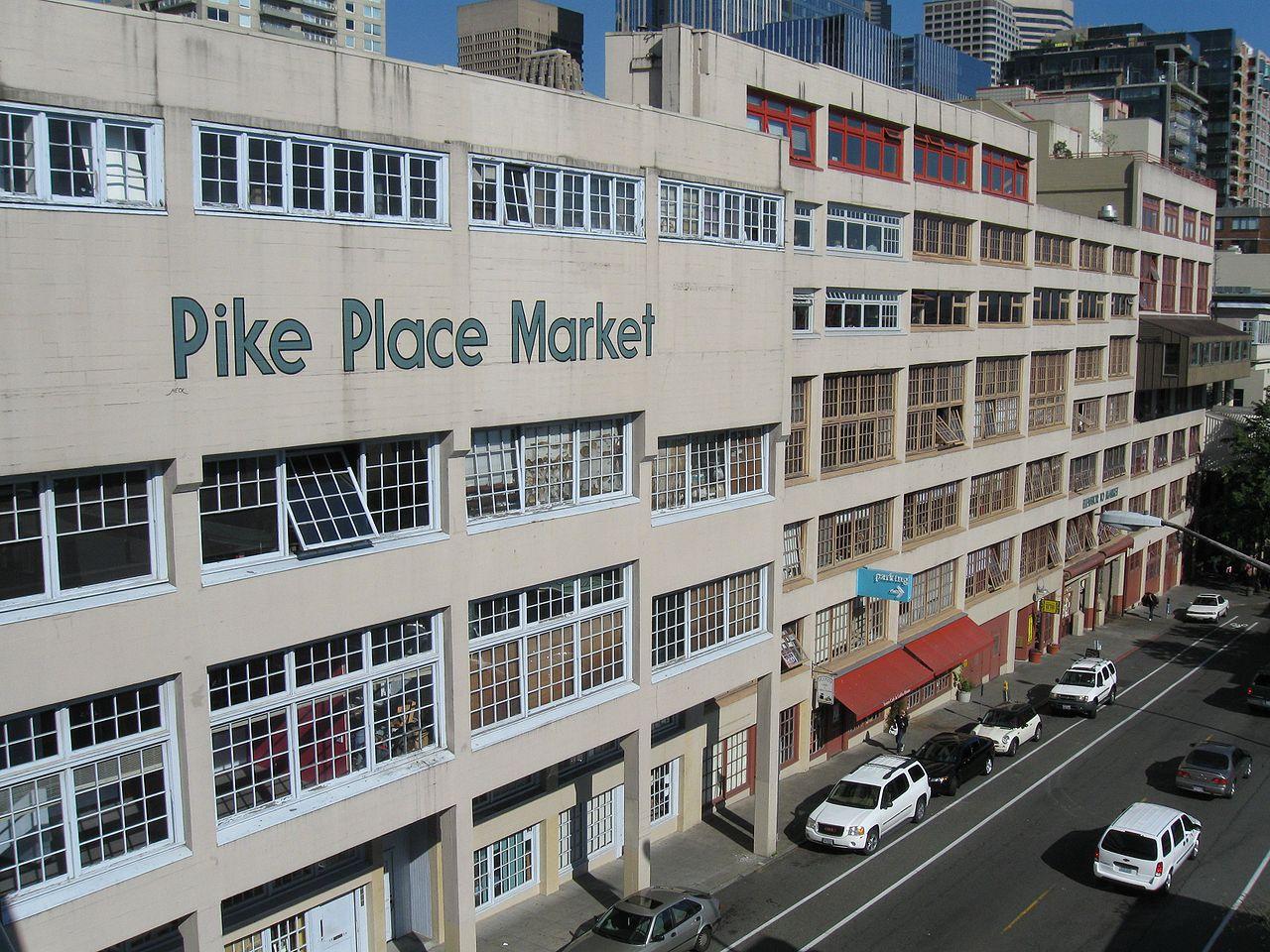 Вид на Пайк-Плейс-маркет