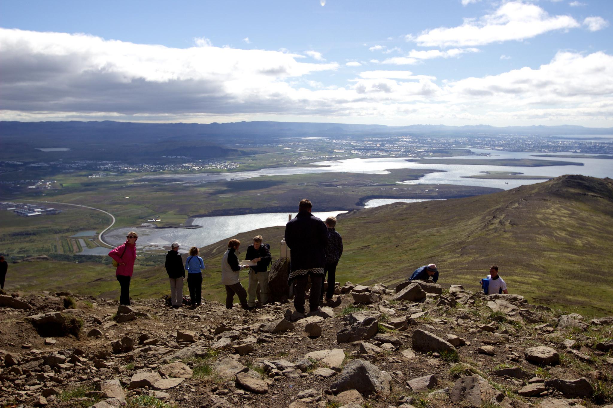 Вид с горы Эсья, Исландия