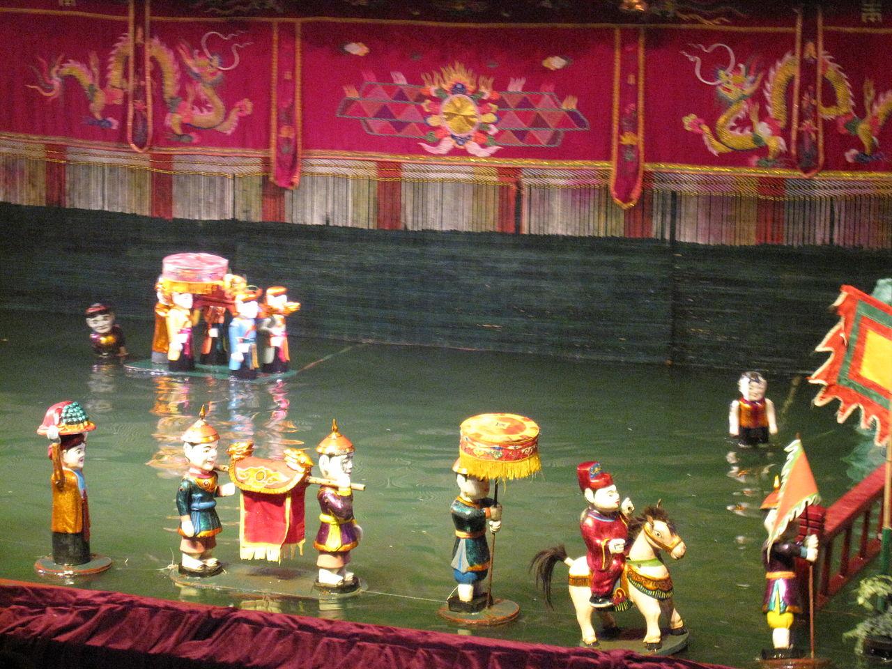 Вьетнамский кукольный театр на воде, представление