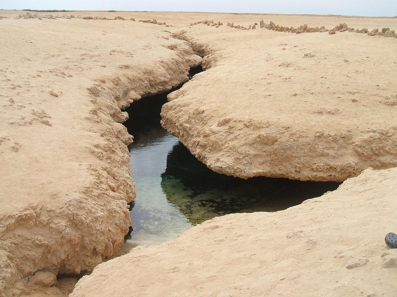 Национальный парк Рас-Мохаммед, тектонический разлом