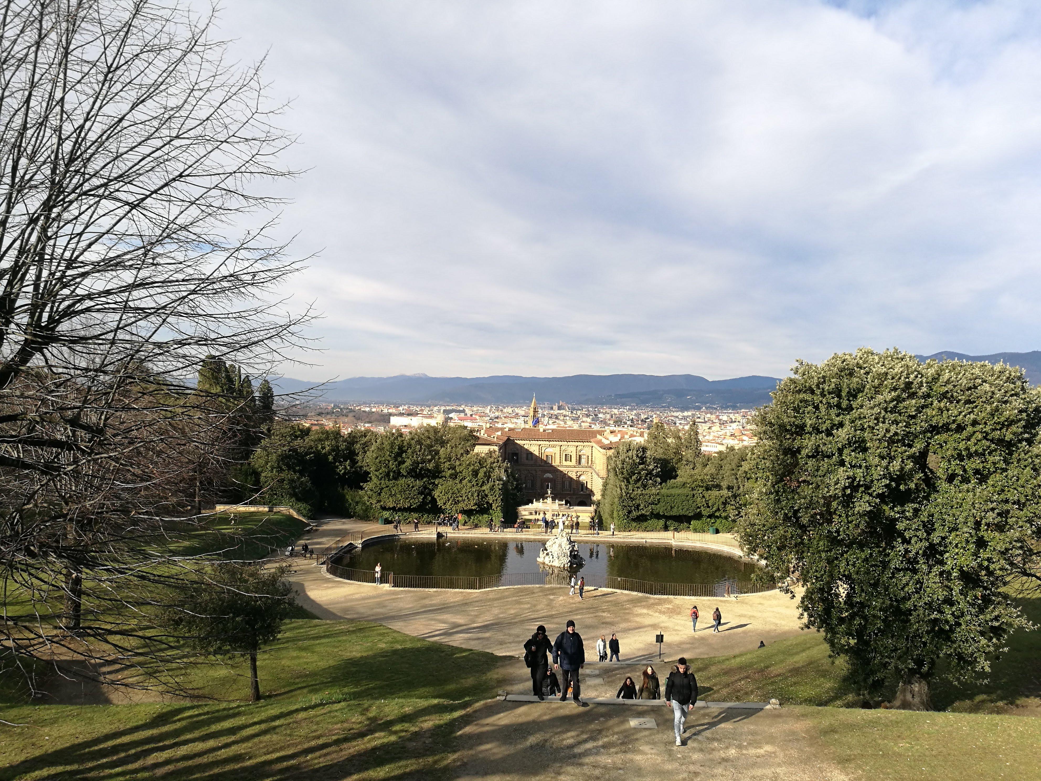 Вид на Сады Боболи, Флоренция