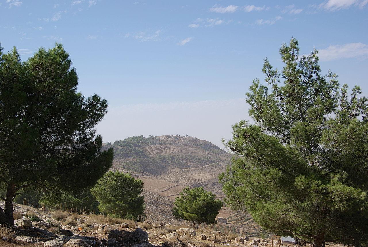 Вид на гору Нево в Иордании